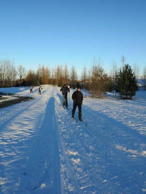 Środa na biegówkach na Polu Mokotowskim