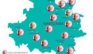11 ulic Jana Pawła II, czyli Warszawa w wersji PiS. Co oznacza rozszerzenie granic? [MAPA]