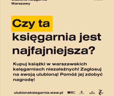 Warszawa. Która księgarnia jest najfajniejsza? Trwa konkurs