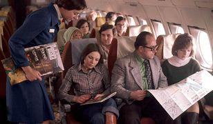 Wnętrze samolotu PLL LOT w 1978 roku