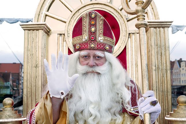 """Olaf Lubaszenko jako Św. Mikołaj na planie filmu """"Miłość jest wszystkim"""""""