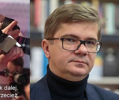 """Sylwester Latkowski - reżyser filmu dokumentalnego o przestępstwach seksualnych w """"Zatoce Sztuki""""."""