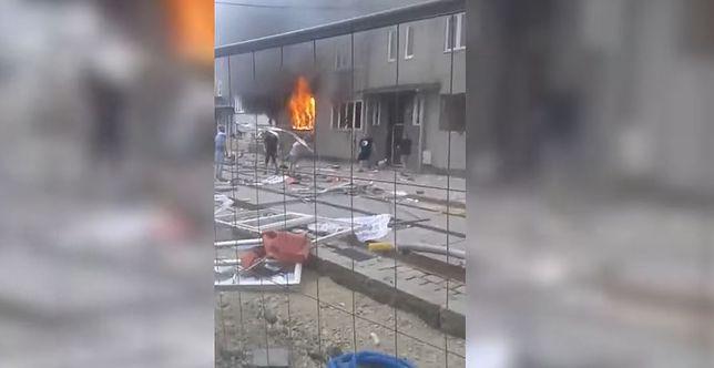 Bytom. Dramatyczne nagranie po wybuchu