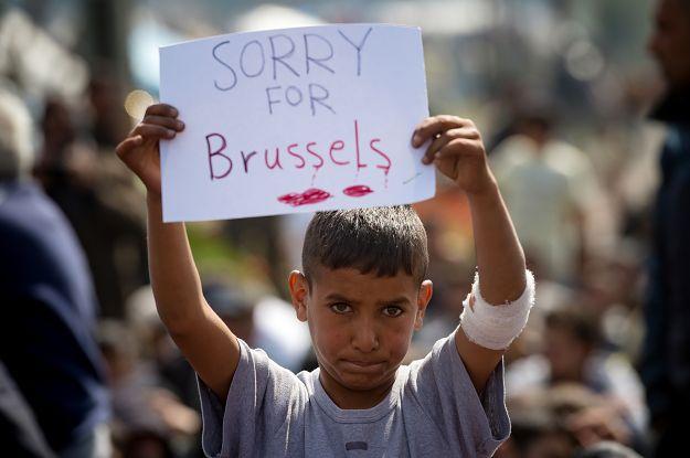 Imigranci przepraszają za zamachy w Brukseli