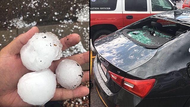 Grad w mieście Colorado Springs spowodował spore szkody