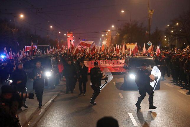 Do incydentu doszło podczas niedzielnego Marszu Niepodległości