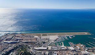 Malowniczo położony port lotniczy Genua