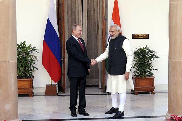 Władimir Putin i premier Indii Narendra Modi
