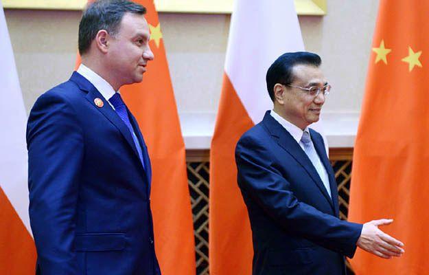 Prezydent RP Andrzej Duda i premier Chin Li Keqiang podczas spotkania w Suzhou
