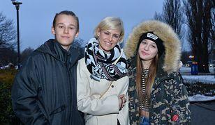 Mandaryna z synem Xavierem i córką Fabienne