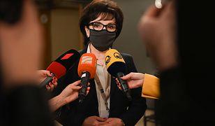 Przemowa szefowej Rady Federacji Rosyjskiej. Nagle z sali wyszła Witek i Grodzki