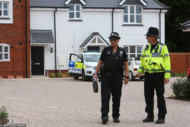 Policjanci w miejscu, gdzie doszło do kolejnego zatrucia