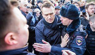 Aleksiej Nawalny zatrzymany podczas demonstracji