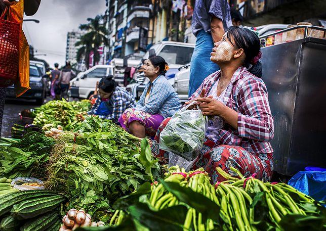 Chiński targ w sercu Mjanmy
