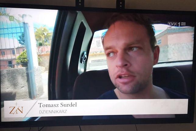 Czukiewski podpisany jako Surdel w materiale TVP