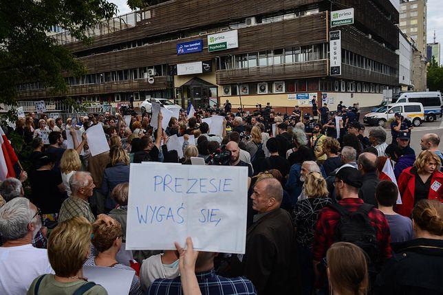 Protest kobiet przeciwko zmianom w sądach