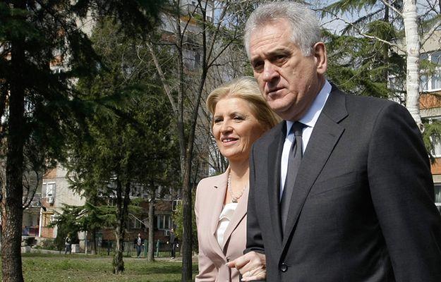 Prezydent Serbii z żoną w Belgradzie w marcu 2014 r.