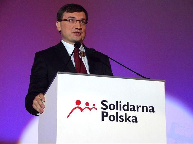 Liderem Solidarnej Polski jest Zbigniew Ziobro