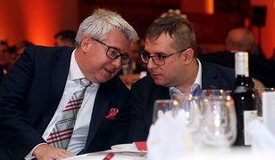Poseł PiS Ryszard Czarnecki i jego syn Przemysław - poseł PiS