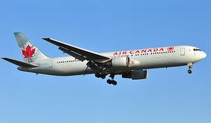 Kobieta nie mogła wydostać się z samolotu należącego do linii Air Canada