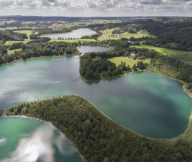 Widok na Suwalszczyznę, częśc Pojezierza Wileńskiego (Litewskiego)