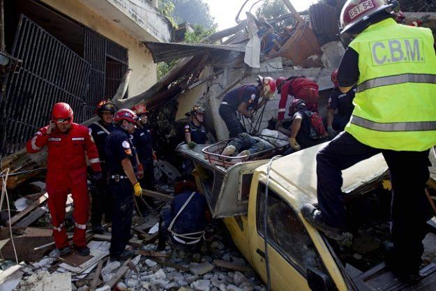 Lawina błotna zniszczyła wioskę Santa Catarina Pinula