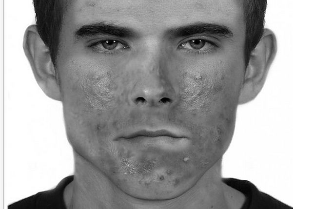 Portret pamięciowy poszukiwanego mężczyzny