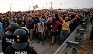 Barcelona. Wielotysięczne demonstracje zakończyły się zamieszkami