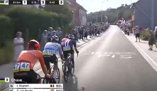 """""""J***ć PiS"""" na trasie wyścigu kolarskiego w Belgii. Antyrządowy napis pokazano w TVP"""