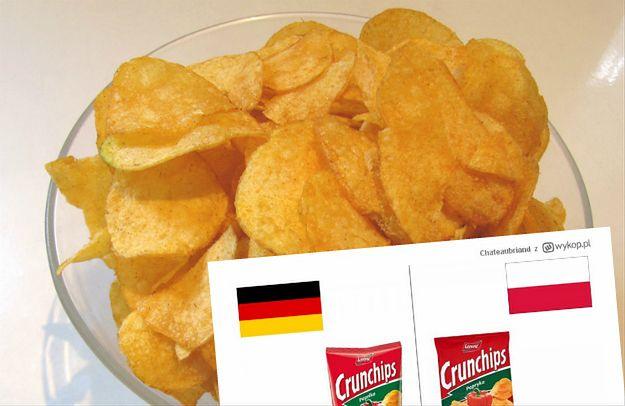 Niemieckie chipsy są o wiele lepsze niż polskie