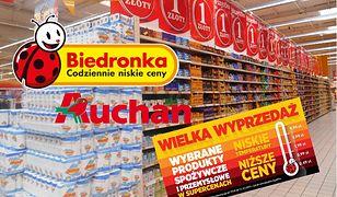 Auchan i Biedronka postanowiły zrobić wyprzedaż i zawalczyć o klienta.