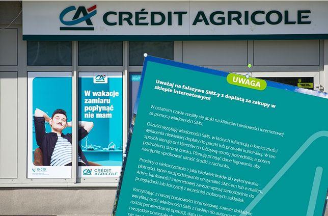 Fałszywe SMS-y do klientów Credit Agricole. Bank ostrzega