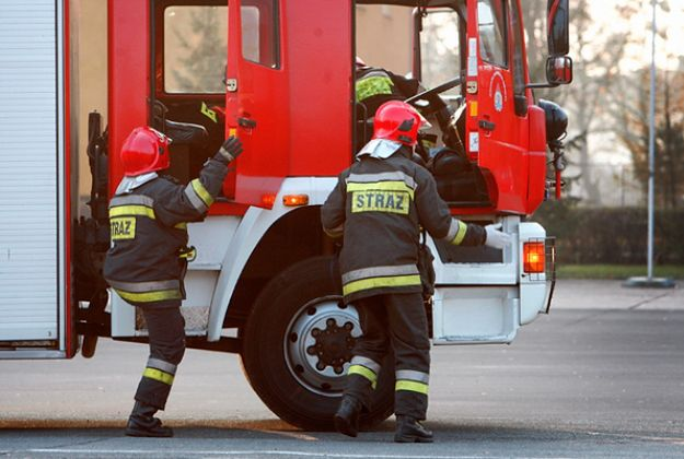 Pożar przy dworcu PKP w Legnicy