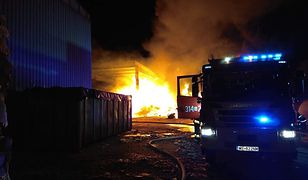 Pożar sortowni śmieci w Wilanowie