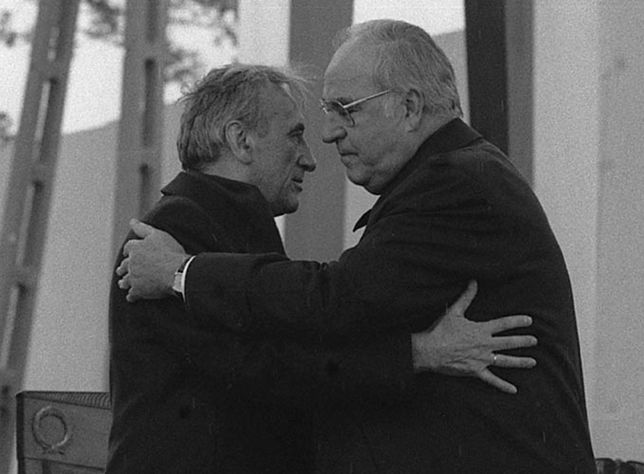 Helmut Kohl i Tadeusz Mazowiecki