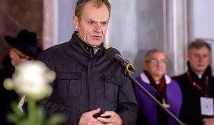Donald Tusk wziął udział w poniedziałkowym wiecu przeciwko nienawiści i przemocy