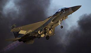 Izraelski samolot F-15. Takie maszyny zaatakowały reaktor w Syrii w 2007r.
