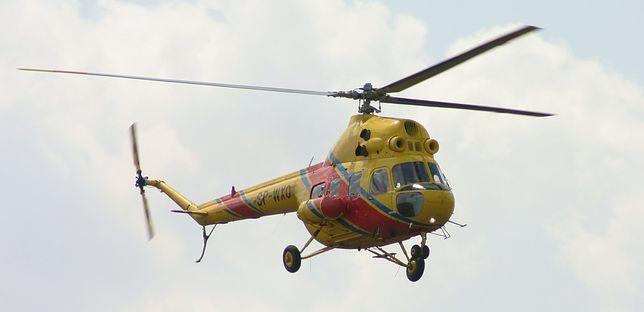 Na miejscu wypadku na drodze krajowej nr 27 interweniował śmigłowiec LPR