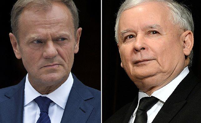 Donald Tusk i Jarosław Kaczyńśki