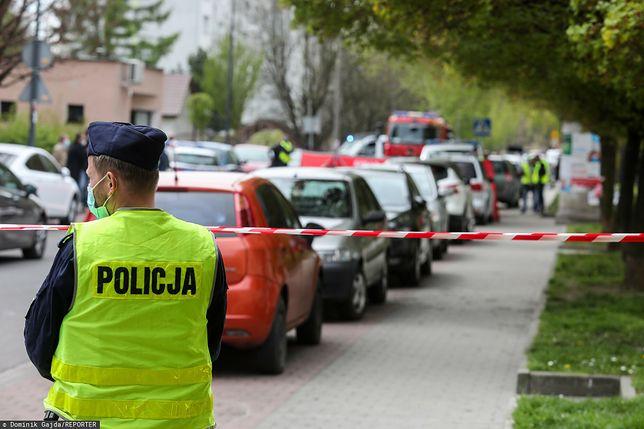 Służby pracujące na miejscu śmiertelnej strzelaniny w Raciborzu