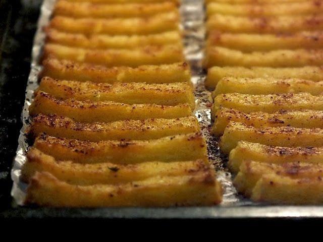 Kukufrytki, czyli frytki z polenty