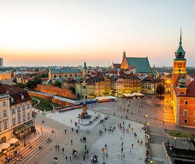 Widok na warszawskie Stare Miasto