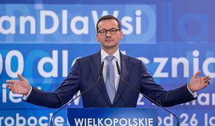 Premier Mateusz Morawiecki podczas konwencji wyborczej PiS w Poznaniu.