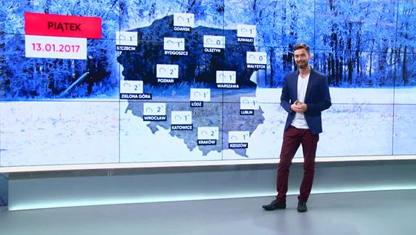 Prognoza pogody na 13 stycznia
