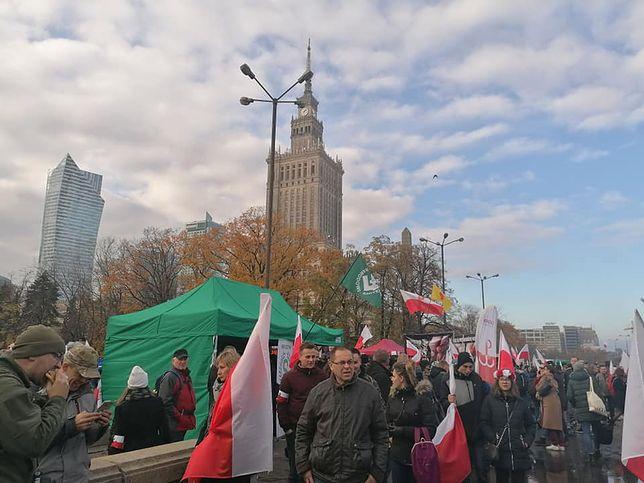 11 listopada. Marsz Niepodległości w Warszawie. Jesteśmy na miejscu