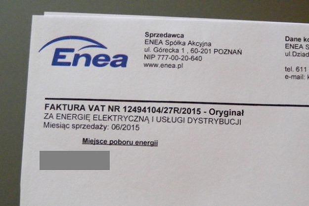 Uwaga, oszuści fałszują rachunki za prąd! Firma Enea ostrzega klientów