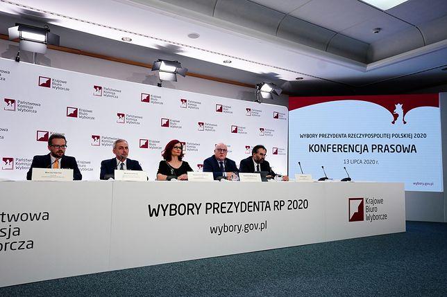 Wyniki wyborów prezydenckich 2020. Konferencja prasowa PKW