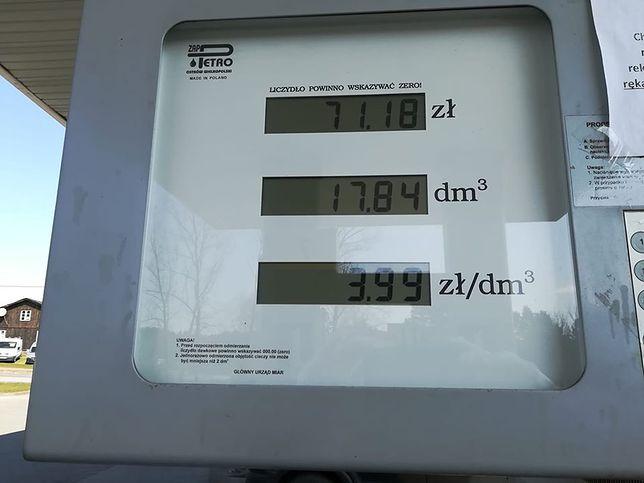 Stacja w Dzierżążnie, 12 kwietnia. Benzyna 95 po 3,99 za litr