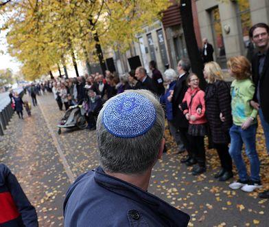Demonstracja przeciwko antysemityzmowi w Berlinie 20 października tego roku