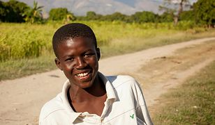 Mieszkaniec miejscowości Calaze na Haiti, w której mieszkają potomkowie polskich legionistów